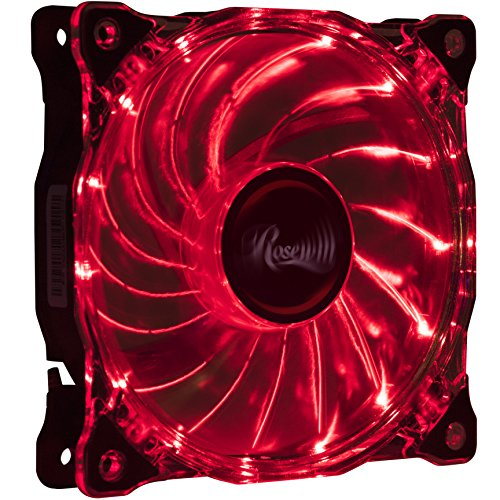 Rosewill RFA 80 RL 80mm Red Case