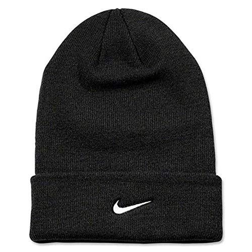 (Nike Adult Unisex Stock Cuffed Knit Beanie (Black))