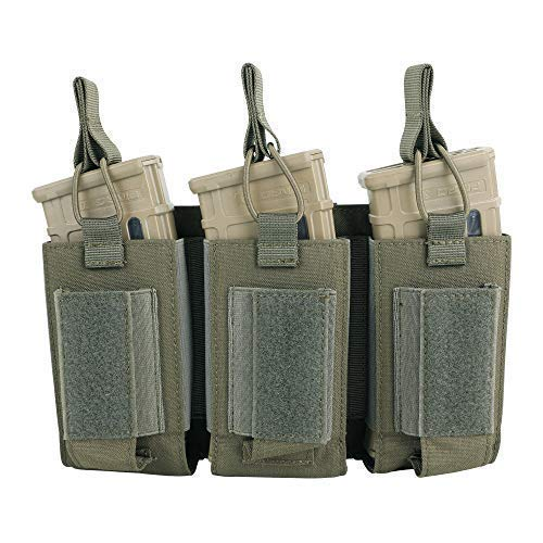 - EXCELLENT ELITE SPANKER Open-Top Single/Double/Triple Mag Pouch for M4 M16 AK AR Magazines and Pistol Mag Pouch(RGN)