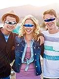 4 Pairs Futuristic Narrow Cyclops Sunglasses