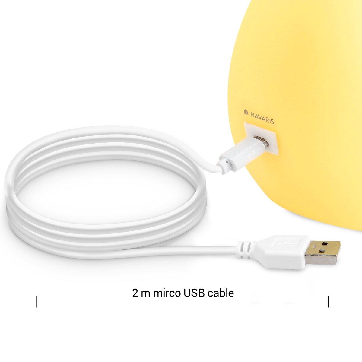 Navaris LED Nachtlicht Mond Design - 2m USB-Kabel & Batterie ...