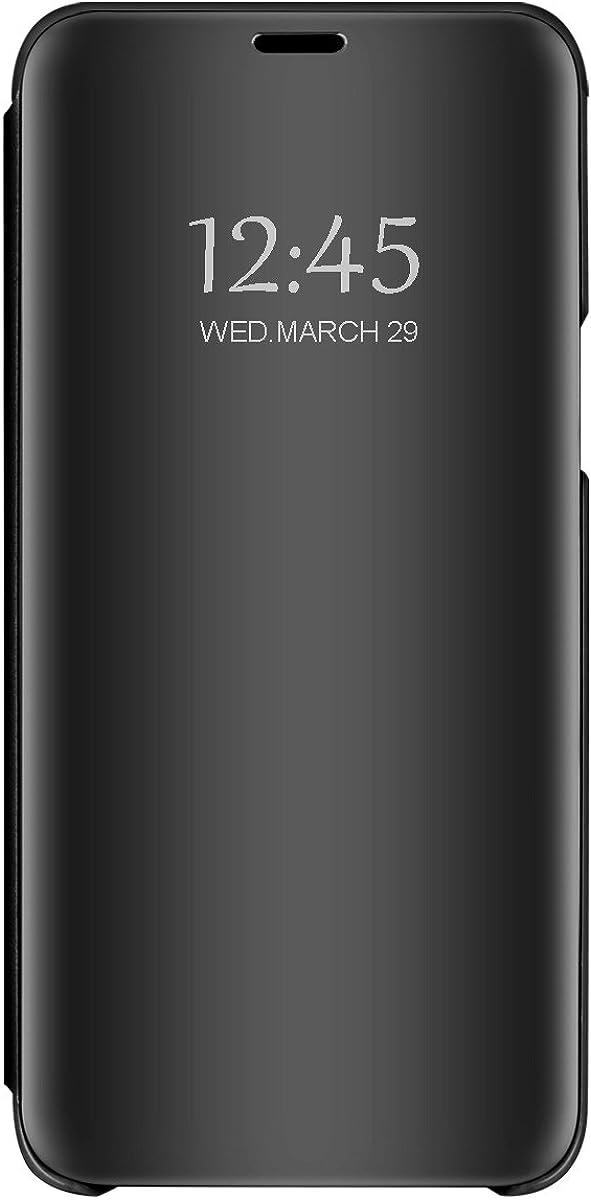Funda Compatible with Xiaomi MI A2,Carcasa Xiaomi MI A1 Espejo Mirror Flip PC Hard Case Ultra Delgada Protector Cover Soporte Plegable Caso Duro para Xiaomi MI A2 / A1