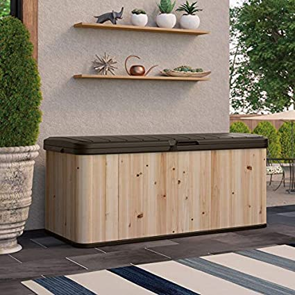 Marvelous Suncast Wrdb12000 120 Gallon Extra Large Hybrid Deck Box W Resin Floor And Lid Ibusinesslaw Wood Chair Design Ideas Ibusinesslaworg