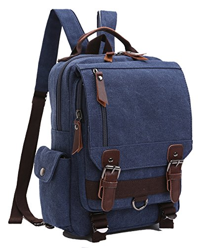 Travel Outdoor Computer Backpack Laptop bag middle(darkblue) - 2