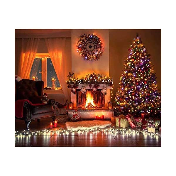 LOPSNNA Luce Natalizia,Catena Luminosa, Luci Cascata, Strisce LED, 96 Leds Luci 3.5 m Luci Stringa 8 Modalità Impermeabili IP44, per finestra, porta, patio, giardino, feste, Natale (Multicolore) 6 spesavip