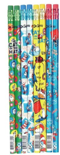 Dr Seuss Cat in the Hat Little Kids Pencil Set, 144 Pieces (66890)