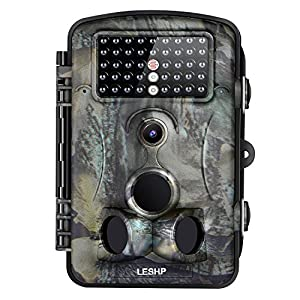 "LESHP Game and Trail Camera 12MP 1080P HD With Time Lapse 65ft 120° Wide Angle Infrared Night Vision 42pcs IR LEDs Waterproof IP66 2.4"" LCD Screen Scouting Camera Deer Camera Digital Surveillance"