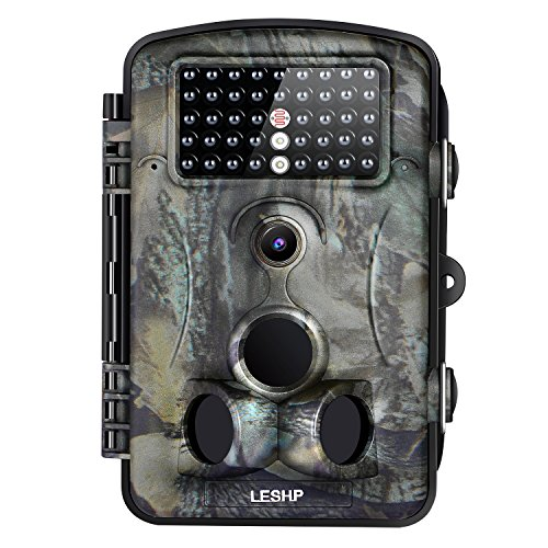LESHP Game and Trail Camera 12MP 1080P HD With Time Lapse 65ft 120° Wide Angle Infrared Night...