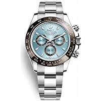 Luxury Swiss Tona Universe Ultimate Chronograph High End Watch Ice Blue Dial Automatic 4130 movement