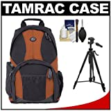 Tamrac 3385 Aero Speed Pack 85 Photo / Laptop Digital SLR Camera Backpack (Rust) with Tripod + Accessory Kit for Canon EOS 70D, 6D, 5D Mark III, Rebel T3, T5i, SL1, Nikon D3100, D3200, D5200, D7100, D600, D800, Sony Alpha A65, A77, A99, Best Gadgets