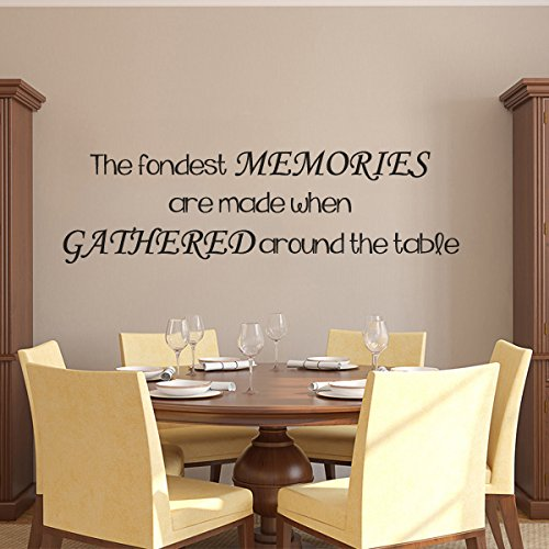MairGwall Dining Room Wall Decal Sticker Mural Removable Memory Wallpaper Decoration Art The Fondest Memories Are Made When Gathered Around The Table£¨X-Large,B