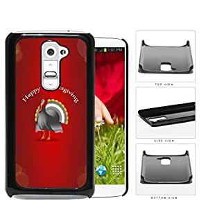 Happy Thanksgiving Turkey With Red Background LG G2 Hard Snap on Plastic Cell Phone Case Cover