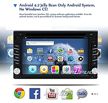 Amazon.com: in Dash Car Head Unit DVD Player GPS Navigation ...