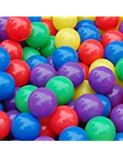 Scienish 50 Pcs Colorful Soft Plastic Ocean Fun Ball Balls Baby Kids Tent Swim Pit Toys Game Gift 5.5cm