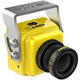 FPV Camera Caddx Turbo S1 FPV Came 1/3 CCD 600TVL 2.3mm IR Blocked NTSC DC 5V-40V Wide Voltage Yellow for FPV Racing Drone