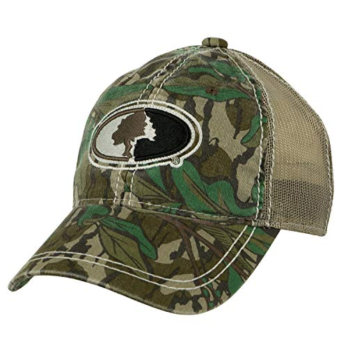 - Mossy Oak Camo Mesh Back Hat with Adjustable Snap Back in Multiple Camouflage Patterns