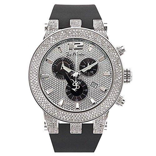 Joe Rodeo JRBR1 Broadway Diamond Watch, White Dial with Black Band - Diamond Bracelet Chronograph