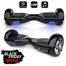 """CHO 6.5"""" inch Wheels Original Electric Smart Self Balancing Scooter Hoverboard with Built-in Speaker- UL2272 Certified"""