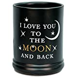 jar candle warmer - Elanze Designs Love You to the Moon Ceramic Stoneware Electric Large Jar Candle Warmer