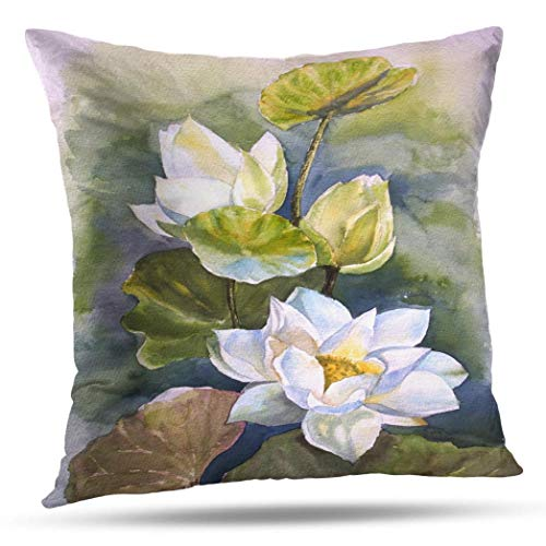 Decorativepillows 18 x 18 inch Throw Pillow Covers,Vintage Elegant Southern Magnolia Chic Pattern Double-Sided Decorative Home Decor Indoor/Outdoor Garden Sofa Bedroom Car Kitchen Nice Gift