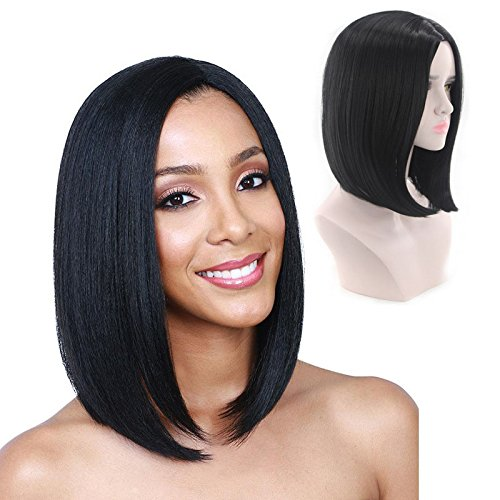 Yiwa Women Fashion BOBO Hairstyle Wig for Masquerade Dress up Headdress Wear Decoration