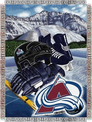 The Northwest Company Officially Licensed NHL Colorado Avalanche Homefield Ice Advantage Woven Tapestry Throw Blanket, 48