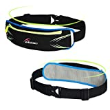 Running Belt Pouch for iPhone 6/6s/7 Plus,Waist Bag Pack for Women/Men,Fitness Running Holder Gear Bags with Built-in Pockets for Sport,Waterproof & Reflective Workout Accessories