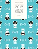 2019 Weekly Planner Ferret: Dated With To Do Notes And Inspirational Quotes - Hipster Blue Ferret (Cute & Adorable Calendar Diary Book)