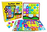 VIPAMZ PEG Button Art Color Matching Mosaic Pegboard Set Early Learning Educational Toys for Boys and Girls