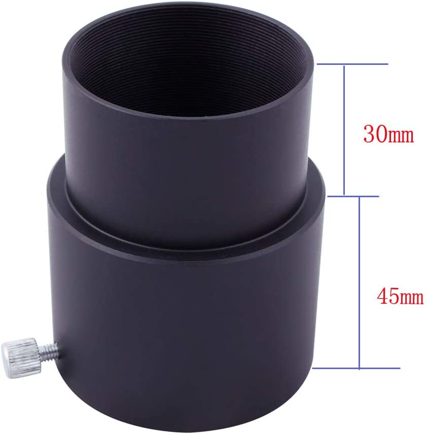 SVBONY 2 inches Telescope Eyepiece Extension Tube with Protective Ring Anodized Black