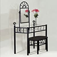 Foundry Vanity Set, Sand Black by Crown Mark