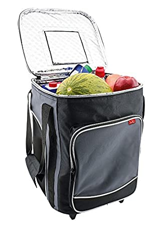Jata Nevera Trolley Porta Alimentos Flexible, Tela, Gris, 30x30x41 cm: Amazon.es: Hogar