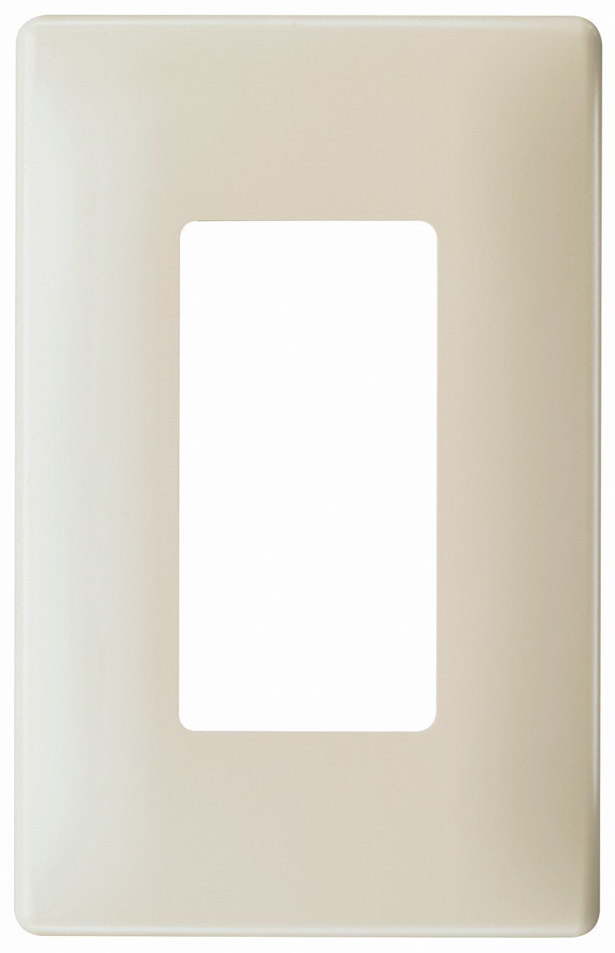 Pass u0026 Seymour SWP26LABPCC10 Screw Less Wall Plate Plastic Sub Plate One Gang Light Almond - Switch Plates - Amazon.com  sc 1 st  Amazon.com & Pass u0026 Seymour SWP26LABPCC10 Screw Less Wall Plate Plastic Sub Plate ...