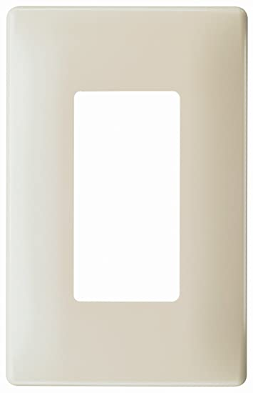 pass u0026 seymour screw less wall plate plastic sub plate one gang light almond