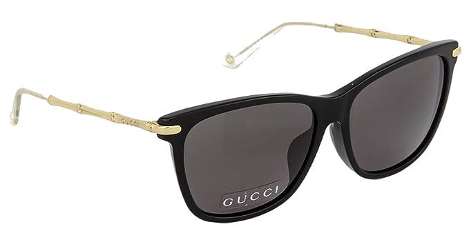 ed78d548ba2e Gucci - GG 3793/F/S ASIAN FIT, Geometric, acetate, women, BLACK GOLD ...