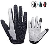 anqier Cycling Gloves Men Women Bike Gloves Mountain Biking Gloves with Anti-Slip Shock-Absorbing...