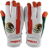 Mexico Baseball Batting Gloves Pitted Leather Lycra Spandex Backing (X-Large)