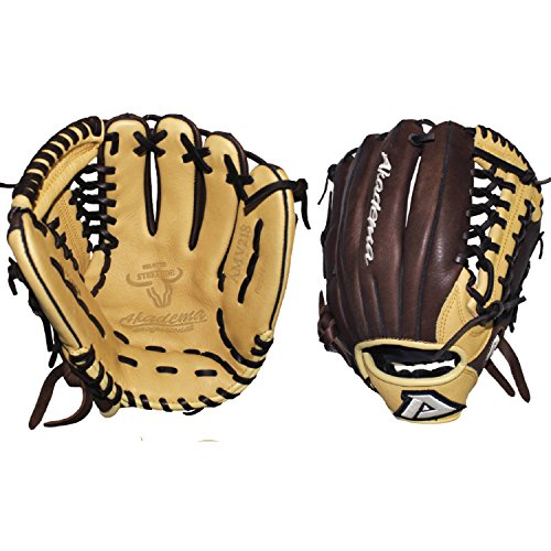 (Akadema Pattern Modified-Trap Web Gloves with Open Back and Medium-Deep Pocket, 11.5