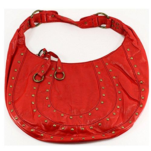 Purse ~ Red w/Studs ~ ~ Horseshoe Design