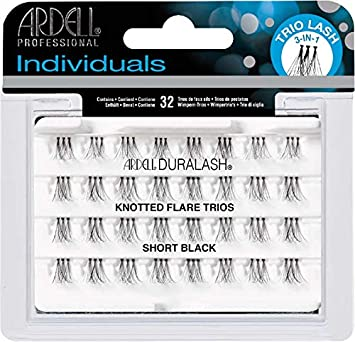 bdd2fbb1cc4 Amazon.com : Ardell Individual Trios Eyelash, Black, Short : Beauty
