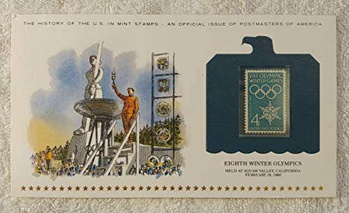 Eighth Winter Olympics - Held at Squaw Valley, California - Postage Stamp (1960) & Art Panel - History of the...
