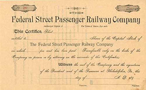 Federal Street Passenger Railway Company
