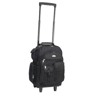 Amazon.com | Everest Deluxe Wheeled Backpack, Black, One Size ...