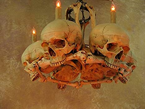 Amazon skull hip bone chandelier home kitchen aloadofball