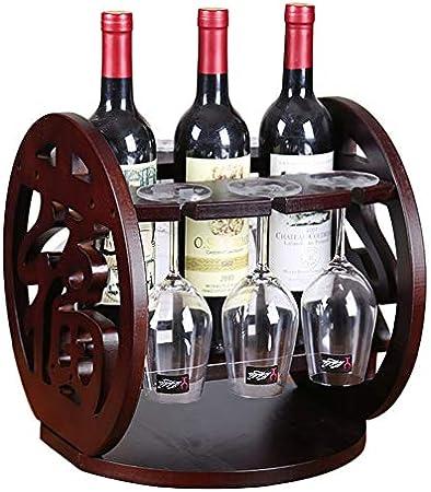 Shocly 3 Botellas EstanteríA De Vino Botellero para Estante Botellas Agua O Refrescos Escaparate Estante Tinto DecoracióN Moda Creativo