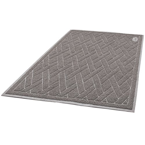 511xQKlbC L - Pawkin Cat Litter Mat - Patented Design with Litter Lock Mesh - Durable - Easy to Clean - Soft - Fits Under Litter Box - Litter Free Floors
