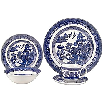 Johnson Brothers Willow Blue 20 Piece DinnerwareSet  sc 1 st  Amazon.com & Amazon.com: Johnson Brothers Willow Blue 20 Piece DinnerwareSet ...