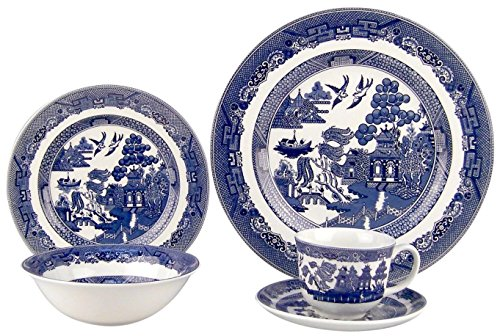 Johnson Brothers Willow Blue Plate 511xQdkYN7L
