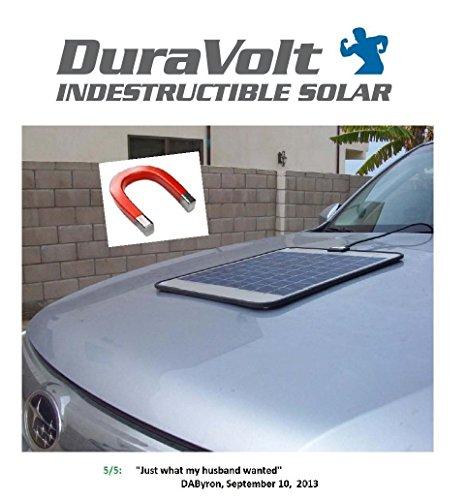 SUPER-MAGNETIC-12-Volt-Solar-Charger-83-Watt-Boat-Rv-Marine-Solar-Panel-Semi-Flexible-Self-Regulating-12V-No-experience-Plug-Play-Design-Dimensions-118-L-x-100-W-x-14-Thick-10-cable
