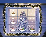 LayDUS Christmas window clings decals Christmas window decals removable Decor Clings Ornaments Party Supplies